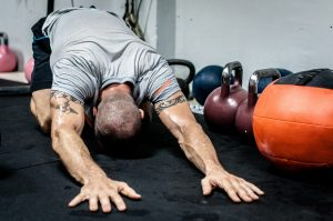 stretching and kettlebell